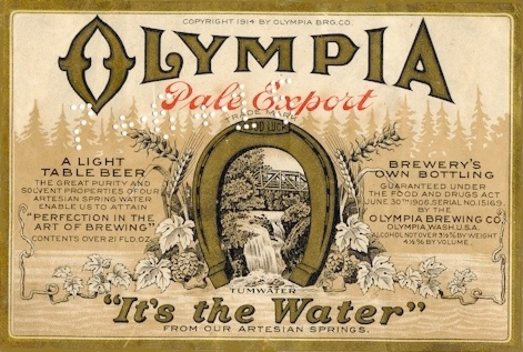 Olympia_Beer_label_1914
